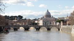 Tiber River after Flood 2014 Stock Footage