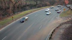 Rock Creek Park Traffic Stock Footage