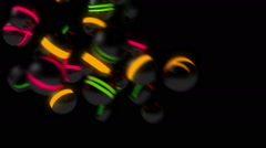 3D balls chasing each other Stock Footage