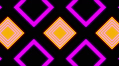 Stock Video Footage of minimal kaleidoscope squares