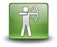 Icon, Button, Pictogram Archery - stock illustration