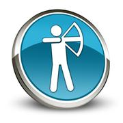 Icon, Button, Pictogram Archery Stock Illustration