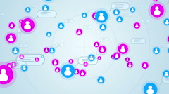 Social network loop media concept iphone Stock Footage