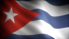 Flag of Cuba - stock footage