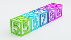 Box Number Toy - stock illustration