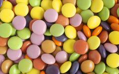 Sugar coated candy or sweets Stock Photos