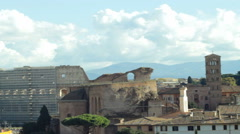 View upon Roman Coliseum Stock Footage