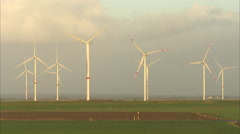 Windmill, Nordfriesland Stock Footage