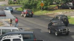 Local Traffic on the Micronesian Island of Pohnpei Stock Footage