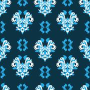 Abstract Elegance Seamless pattern with floral background - stock illustration