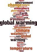 Global warming word cloud Stock Illustration