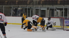 Hockey trip, Ice Hockey team sport game day Stock Footage
