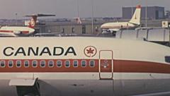 Canada 1976: Air Canada aircrafts Stock Footage