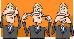 see hear speak no evil - stock illustration
