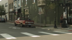 Driving plate: East Washington St, Ann Arbor, Michigan 3QL06 4K Stock Footage