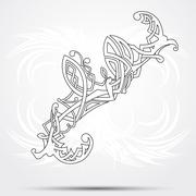 Celtic vector art-collection on a white background. - stock illustration