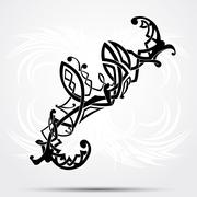 Stock Illustration of Maori styled tattoo pattern fits for a shoulder or an ankle.