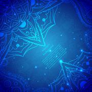 Stock Illustration of Blue Indian Vintage Ornament. Vector illustration for your business presentat