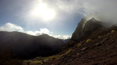Timelapse inside mountain clouds Pico do Arieiro in Madeira Stock Footage