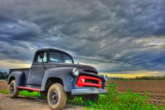 The Ford S-120 standing in the middle of landscape - stock photo