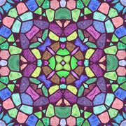 Beautiful color kaleidoscope - stock illustration