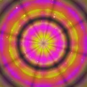 Color magic ring rays - stock illustration
