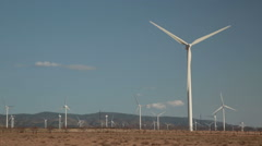 Wind energy turbines, renewable electric energy source. Stock Footage