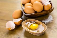 Farm eggs Stock Photos