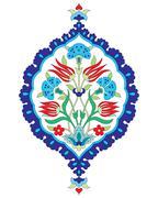 Artistic ottoman seamless pattern series sixty six Stock Illustration