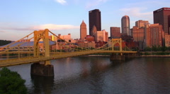 North Shore Pittsburgh Stock Footage