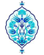 artistic ottoman seamless pattern series sixty seven - stock illustration