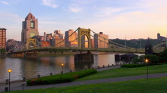 North Shore Pittsburgh - stock footage