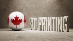 Canada.  3d Printing Concept - stock illustration
