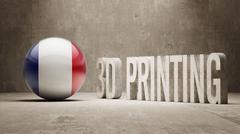 France.  3d Printing Concept - stock illustration