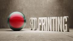 Bangladesh.  3d Printing Concept - stock illustration