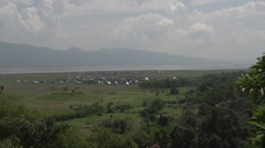 Nyaung Shwe, View over valley and Inle lake  Stock Footage
