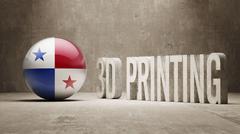 Panama.  3d Printing Concept Stock Illustration