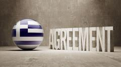 Stock Illustration of Greece. Agreement  Concept