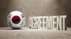 South Korea. Agreement  Concept - stock illustration