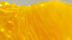 Tasty orange pig, orange cantle, orange lith pulp rotating closeup Stock Footage