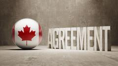 Canada. Agreement  Concept Stock Illustration