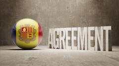 Andorra. Agreement  Concept - stock illustration