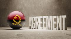 Angola. Agreement  Concept Stock Illustration