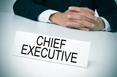 Chief executive in his office Stock Photos