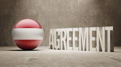 Austria. Agreement  Concept Stock Illustration