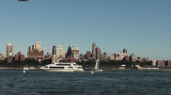 South Street Seaport NY - Helicopter Flight Services #152 Stock Footage