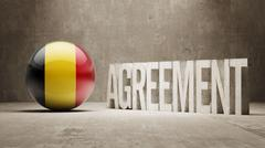 Belgium. Agreement  Concept - stock illustration