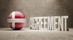 Denmark. Agreement  Concept - stock illustration