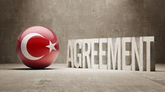 Turkey. Agreement  Concept - stock illustration