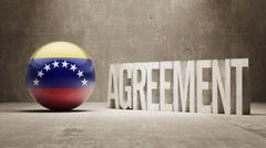 Venezuela. Agreement  Concept Stock Illustration
